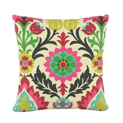 Floral Square Throw Pillow - Skyline Furniture