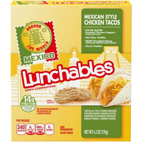 Oscar Mayer Lunchables Mexican Style Chicken Tacos - 4.2oz - image 1 of 3