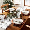 Holiday Windowpane Plaid Table Runner Railroad Gray/Red - Hearth & Hand™ with Magnolia - image 2 of 4