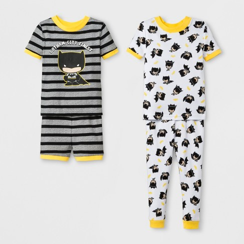 6c9b2c253964 Toddler Boys  Batman 4pc Short Sleeve Pajama Set - Gray   Target