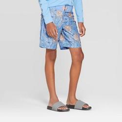 Boys' Leaf Print Swim Trunks - art class™ Blue
