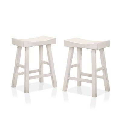 """Set of 2 24"""" Lille Seat Height Saddle Stools - HOMES: Inside + Out"""