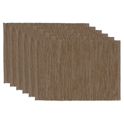 Walnut Tonal Placemats (Set Of 6)- Design Imports
