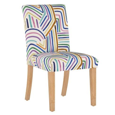 Dining Chair Rainbow Strokes Ochre - Cloth & Company - image 1 of 4
