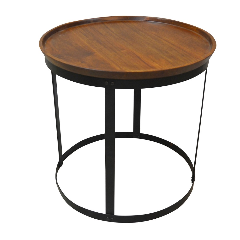Parkton Accent Table - Chestnut/Black (Brown/Black) - Carolina Chair and Table