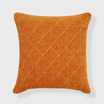 Geometric Chenille Woven Jacquard Reversible Throw Pillow - freshmint