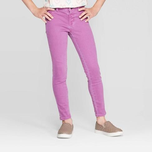 Girls' Skinny Jeggings - Cat & Jack™ Violet - image 1 of 3