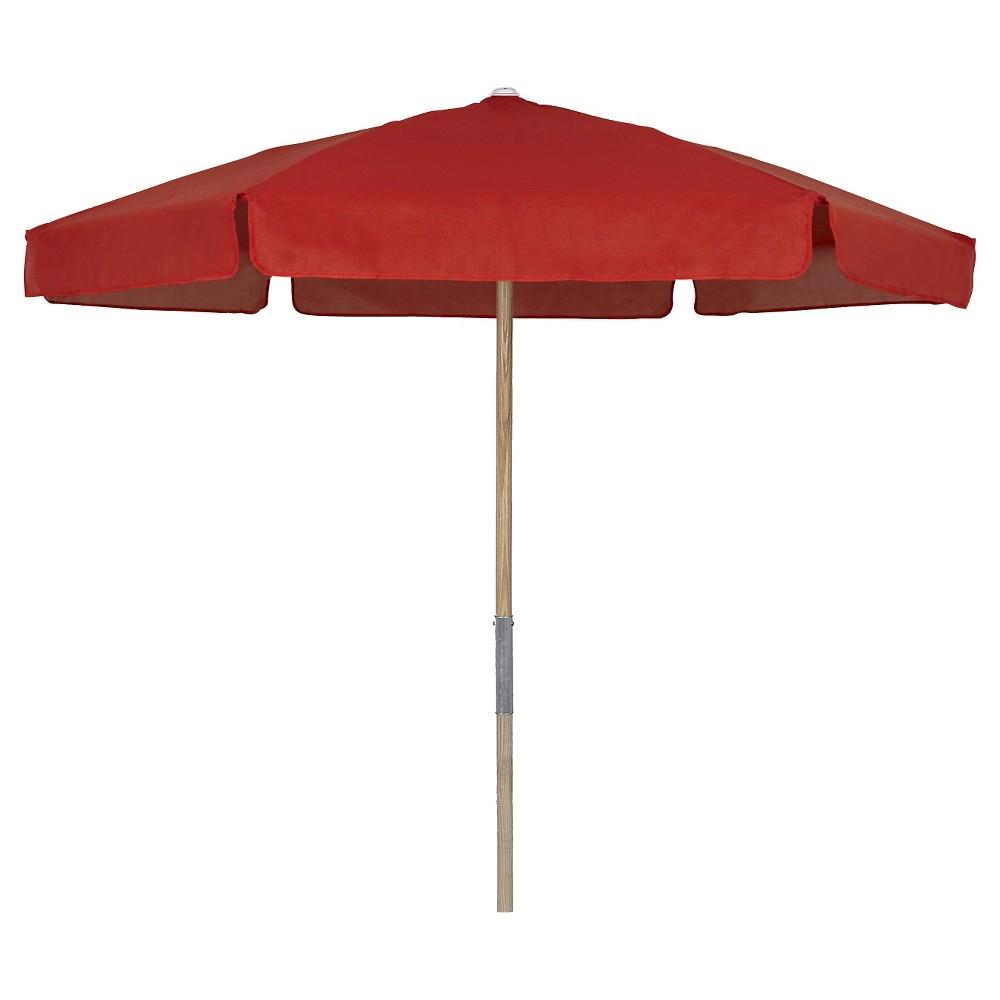Image of FiberBuilt 7.5 Patio Beach Umbrella Vinyl Weave Red