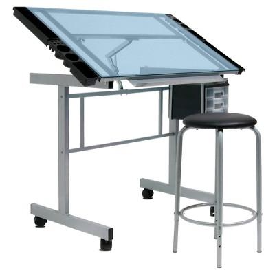 Craft Desk - Light Silver - Studio Designs