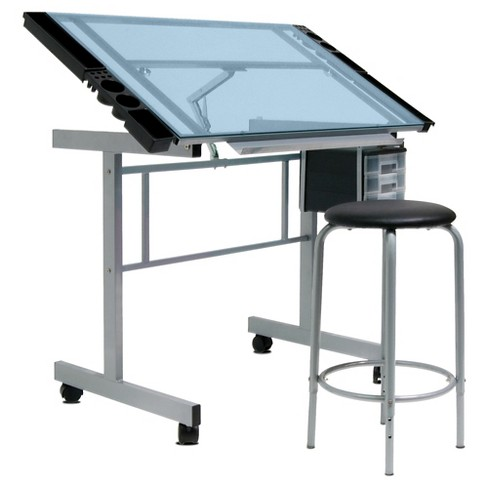 Craft Desk - Light Silver - Studio Designs - image 1 of 4