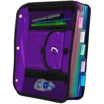 Case-it 5-Tab Expanding File Insert, Purple