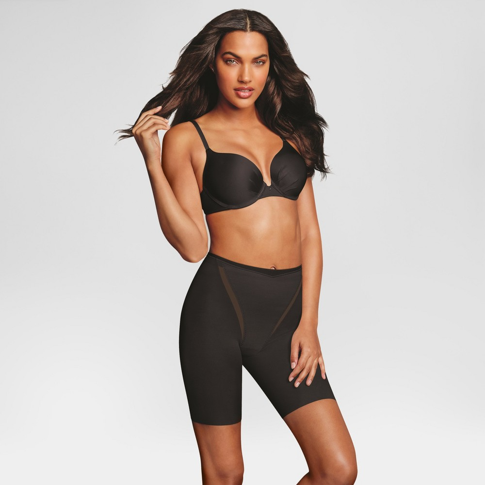 Maidenform Self Expressions Women's Firm Foundations Thigh Shapers - Black XL