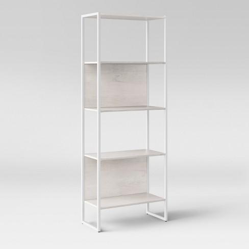 664 Paulo 4 Shelf Bookshelf White