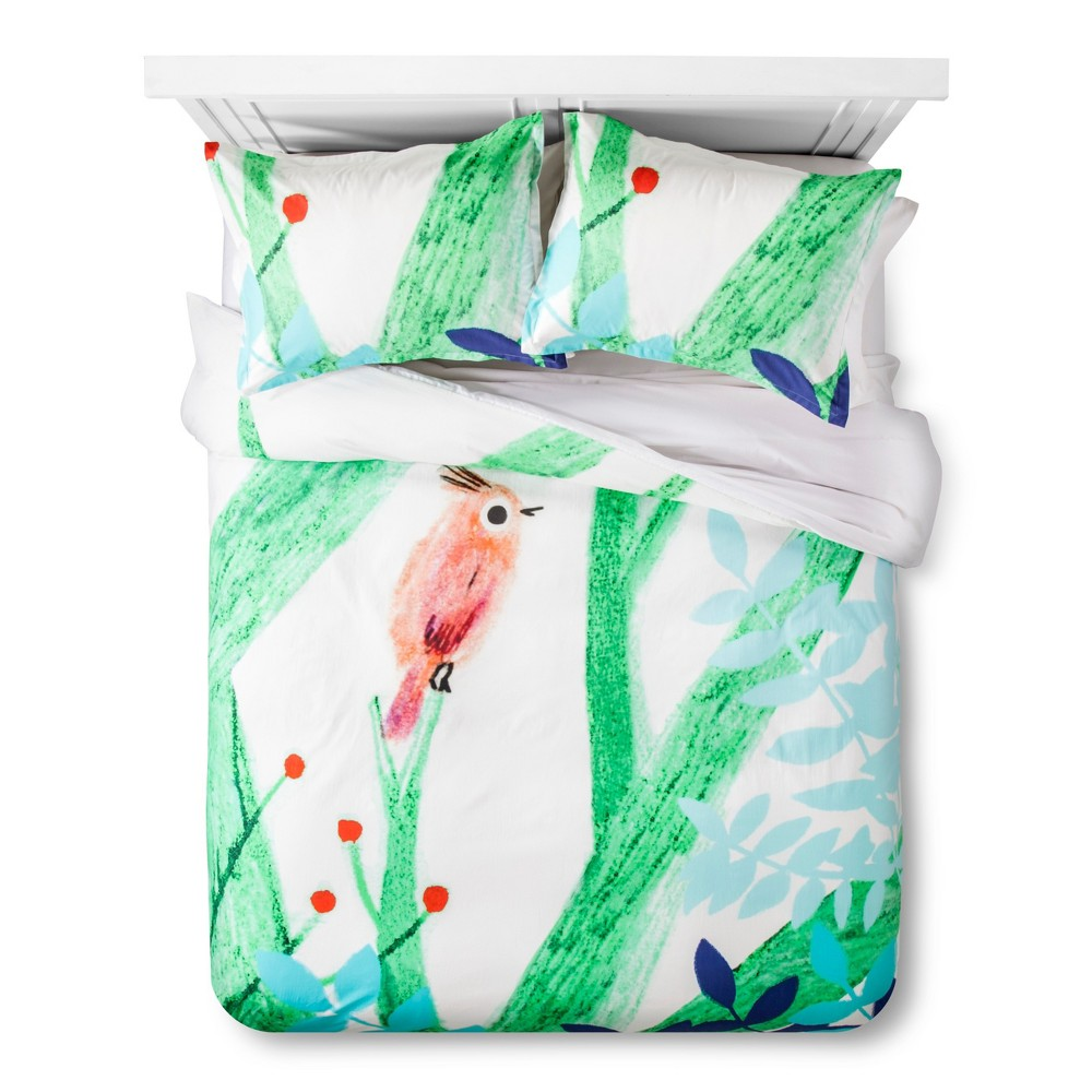Artwork Series: 'Uccellino' by Marianna Coppo Duvet Cover Set (Full/Queen) - AiR, Multicolored