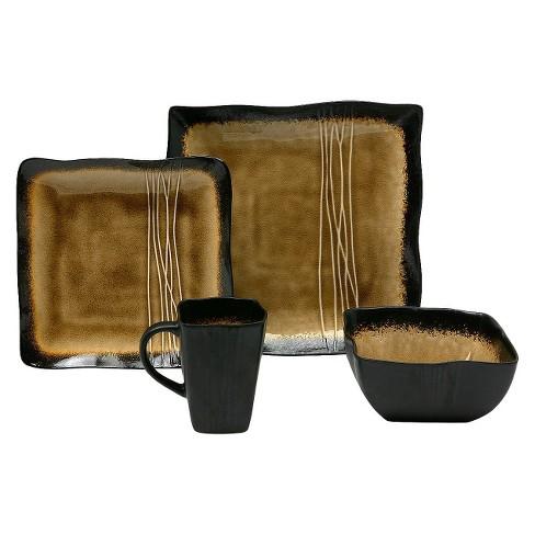 Baum Bros.® Galaxy 16pc Dinnerware Set Amber - image 1 of 1