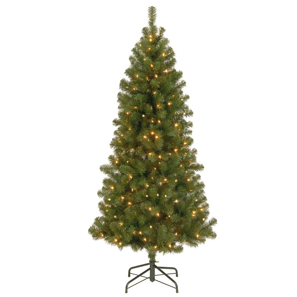 7ft National Christmas Tree Company Canadian Fir Grande Artificial Christmas Tree 350ct Clear