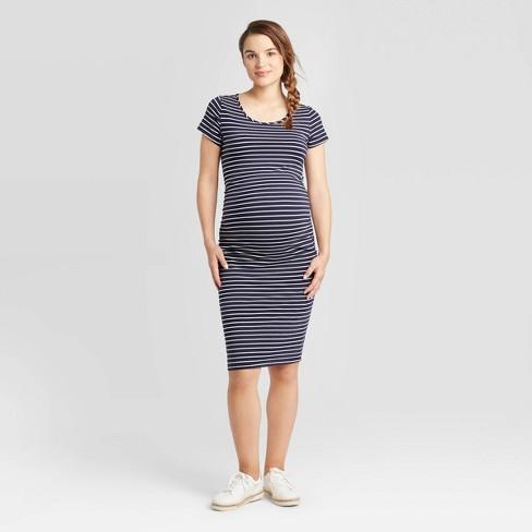 Striped Short Sleeve T Shirt Maternity Dress Isabel Maternity By Ingrid Isabel Navy White M Target