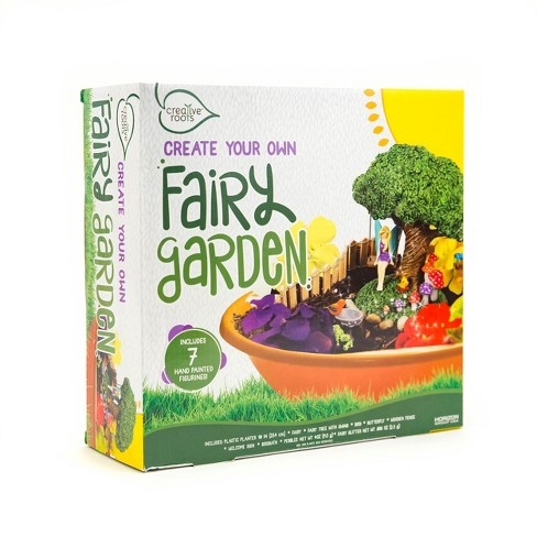 Creative Roots Create Your Own Fairy Garden Kit : Target