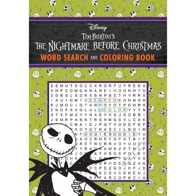 The Nightmare Before Christmas Word Search and Coloring Book - (Coloring Book & Word Search) by  Editors of Thunder Bay Press (Paperback)