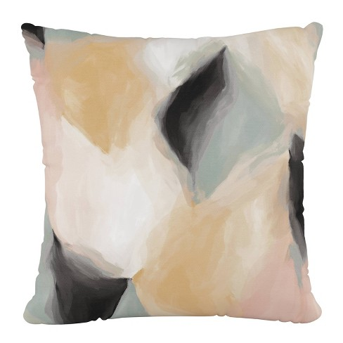 """18""""x18"""" Polyester Pillow with Welt in Abstract Shapes Cloud - Cloth & Company - image 1 of 4"""