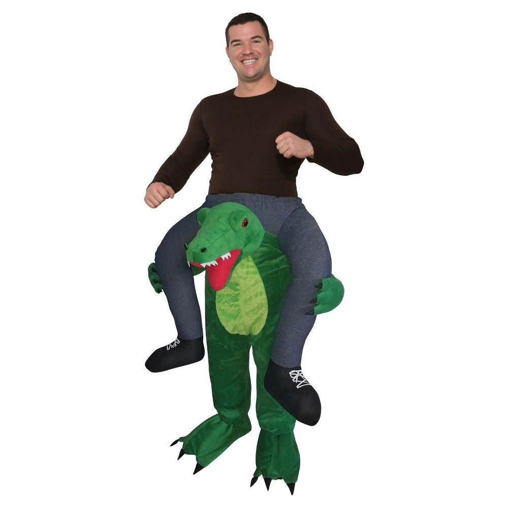 Image of Halloween Adult Ride a Gator Costume, Adult Unisex, Size: One Size, MultiColored