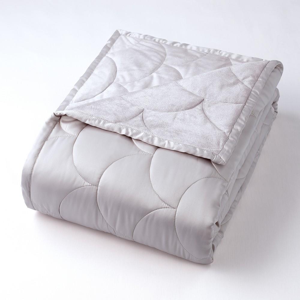 Image of Full/Queen Reversible Blanket Gray - Nikki Chu