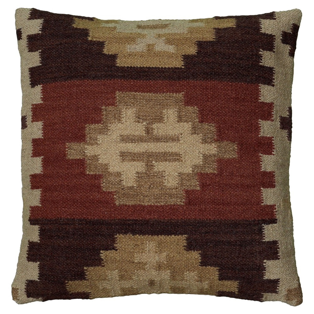 Rust (Red) Southwestern Medallion Throw Pillow (18