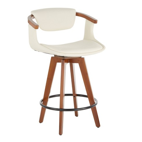 Oracle Mid Century Modern Counter Height Barstool Cream Lumisource Target