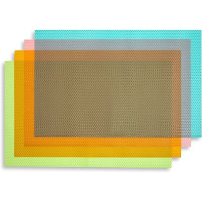 Okuna Outpost 16 Pack Plastic Refrigerator Liners, Shelf Mats in 4 Colors (17.75 x 11.4 in)