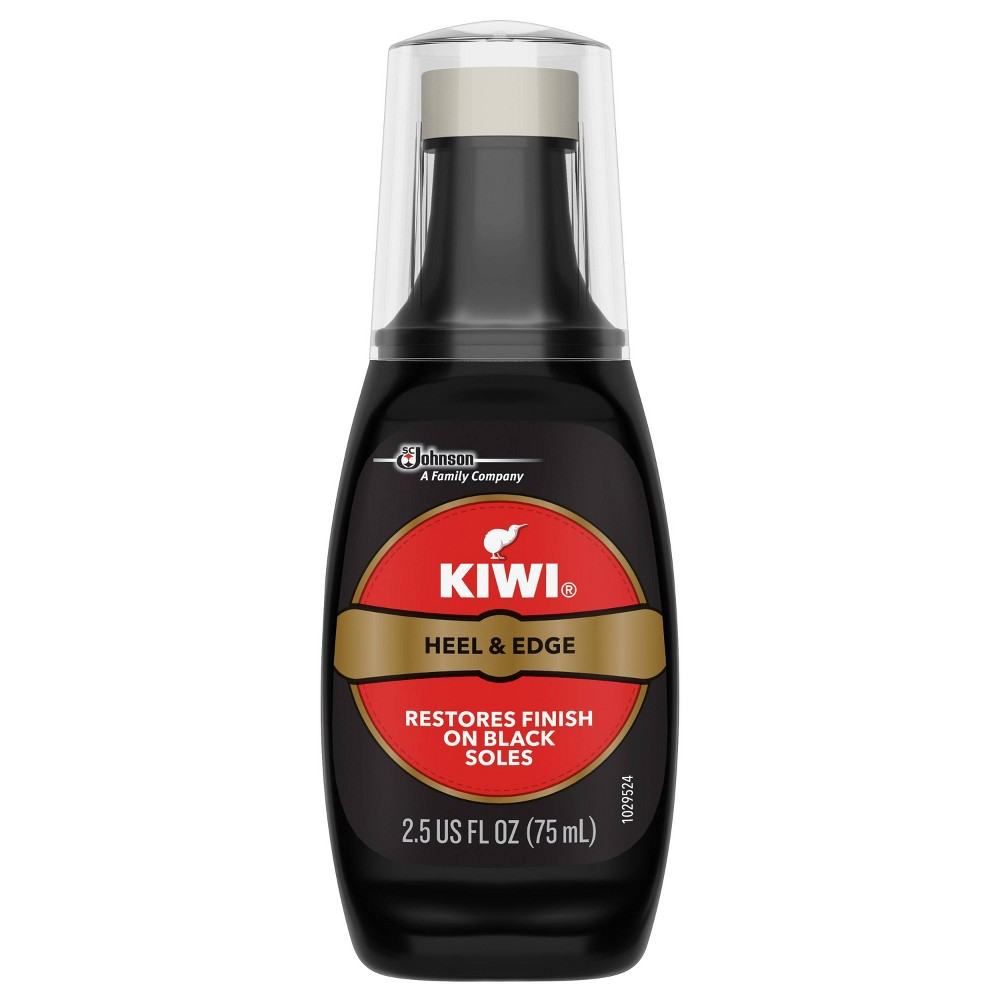 Image of KIWI Heel & Edge Shoe Touchup Black 2.5 fl oz, Adult Unisex