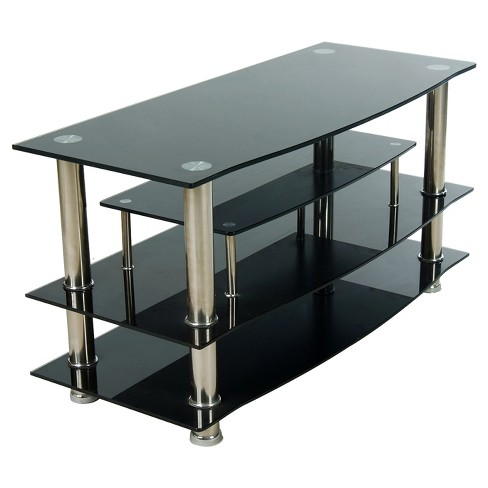 "Glass 37"" TV Stand Black - Home Source Industries - image 1 of 5"