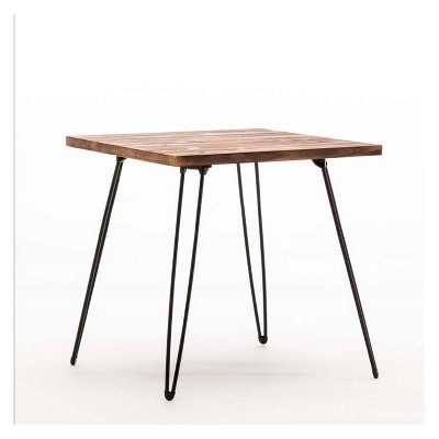 Leonardo End Table Weathered Fir & Black - Boraam