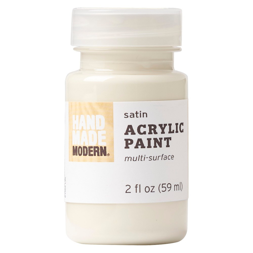 Image of 2oz Satin Acrylic Paint - Egg Hand Made Modern