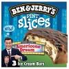 Ben Jerry S Pint Slice Americone Dream Ice Cream Bars 3ct 10oz Target Americone dream, chocolate chip cookie dough, chocolate fudge brownie, and vanilla peanut butter cup. ben jerry s pint slice americone dream ice cream bars 3ct 10oz