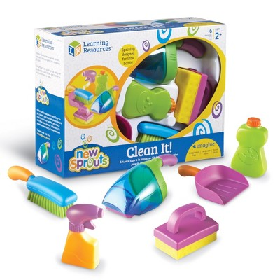 Learning Resources Clean It! My Very Own Cleaning Set, 6 Pieces, Ages 2+