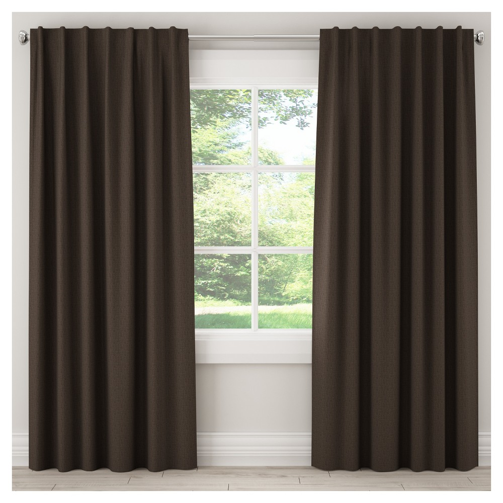Unlined Zuma Curtain Panel Brown (50