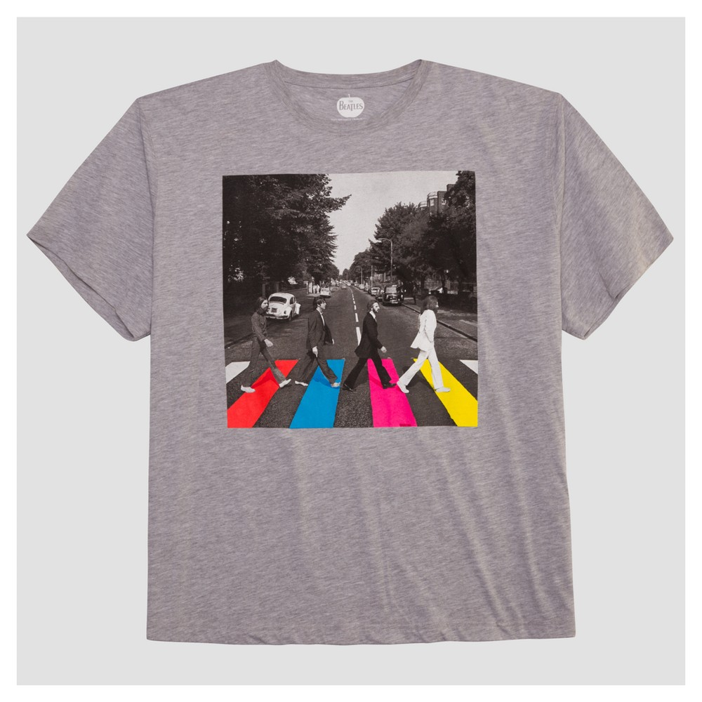 Men's Beatles Big & Tall Abbey Road Graphic T-Shirt - Heather Gray 5XL