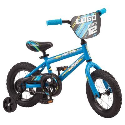 "Pacific Logo 12"" Kids Bike - Blue/Yellow"