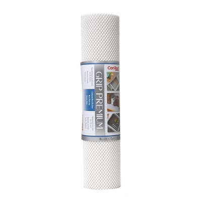 Con-Tact Brand Grip Premium Non-Adhesive Shelf Liner- Thick Grip White (18''x 8')