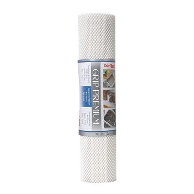 Con-Tact Brand Grip Premium Non-Adhesive Shelf Liner- Thick Grip White (18''x 8')