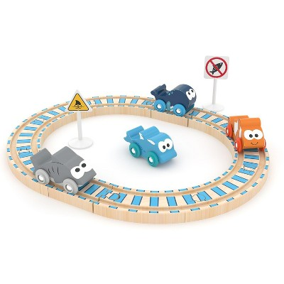 J'adore Ocean Auto and Rail Wooden Toy Playset