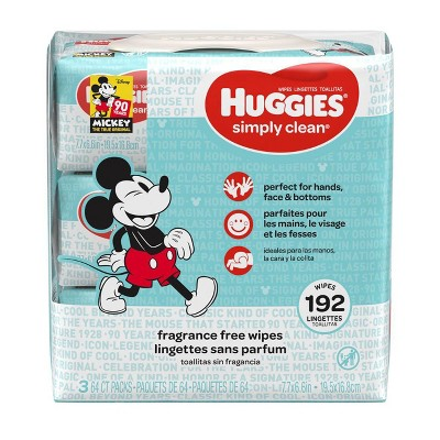 Huggies Simply Clean 3pk Baby Wipes - 192ct