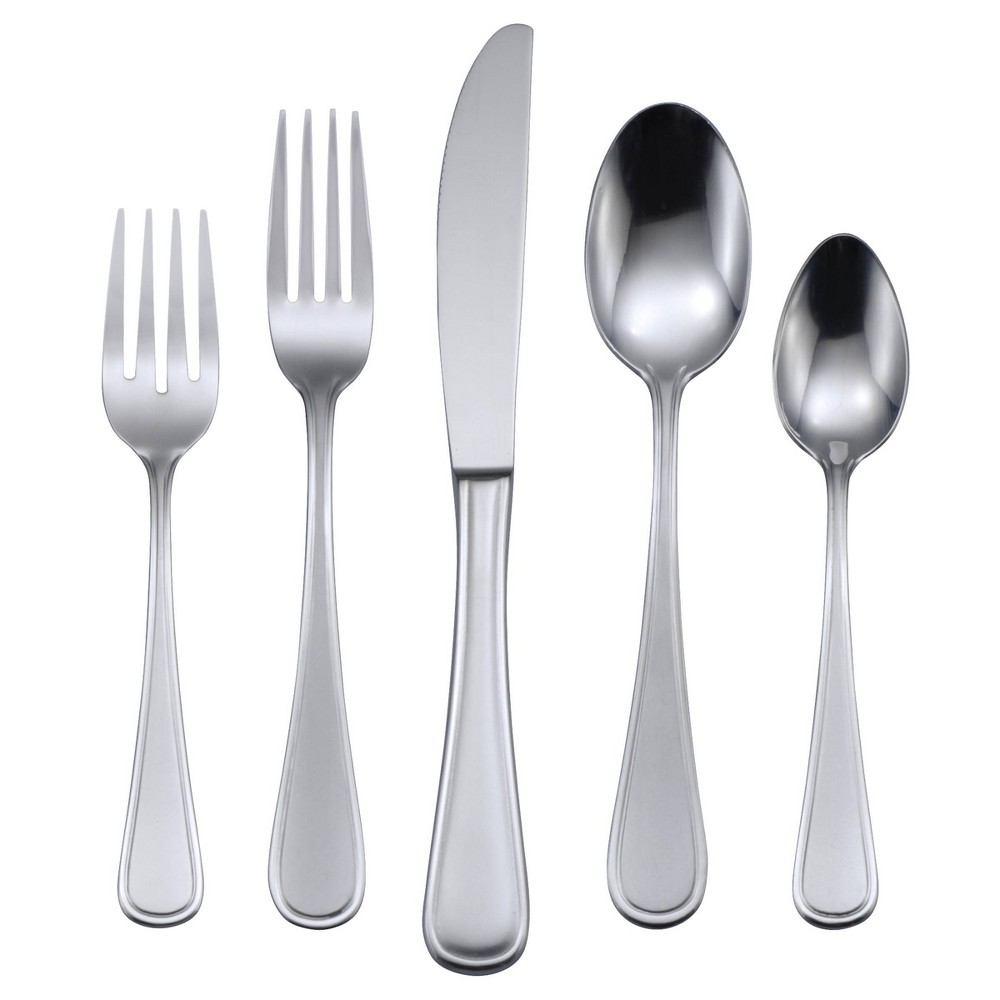 Image of Oneida 45pc Stainless Steel Accord Silverware Set