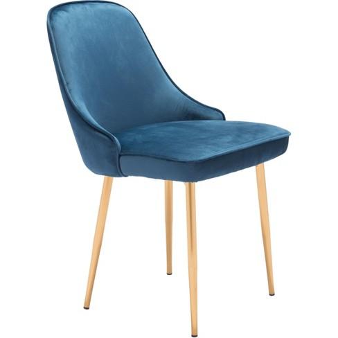 Modern Luxe Velvet Dining Chair - ZM Home - image 1 of 4
