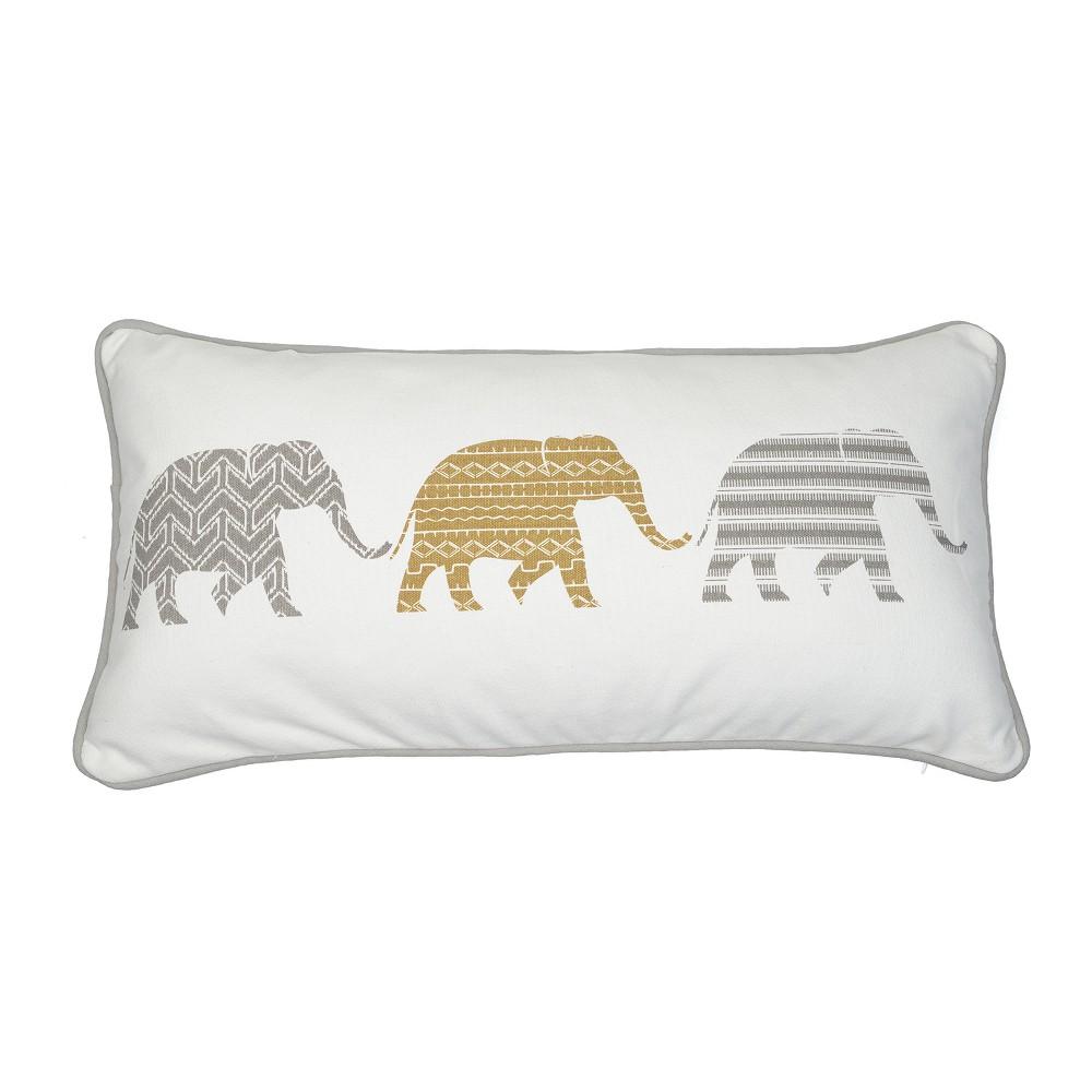 Image of 12x24 Kayma 3 Elephant Pillow Gray - Mudhut