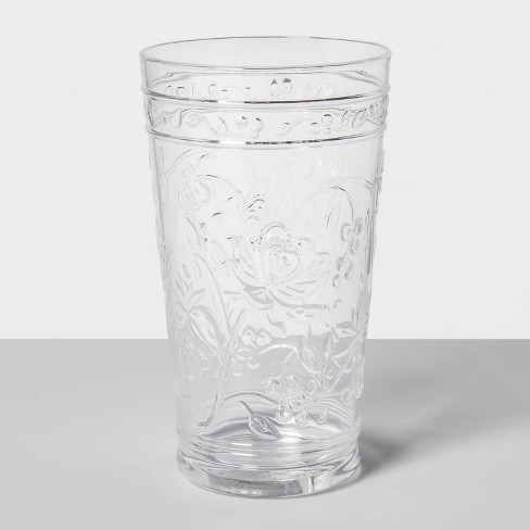 22oz Plastic Floral Embossed Tall Tumbler - Opalhouse™ - image 1 of 1
