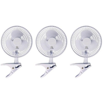 Hydrofarm ACFC6 Active Air 6-Inch Clip-On Desk Hydroponics Grow Fans (3 Pack)