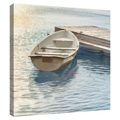 "35"" x 35"" Coastal Retreat Float by Mark Chandon Unframed Wall Canvas - Masterpiece Art Gallery"