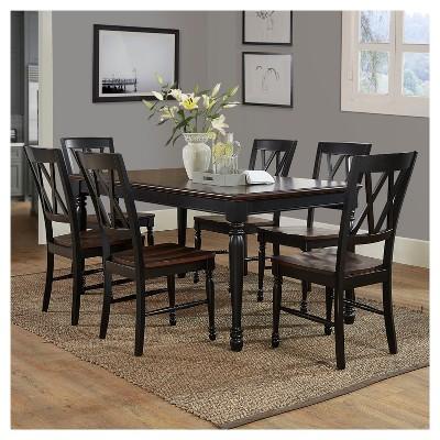 Merveilleux Shelby 7 Piece Dining Set Black   Crosley®