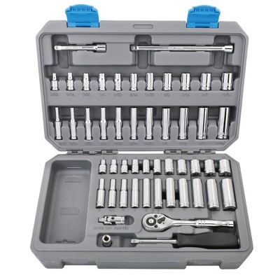 "Apollo Tools 50pc 1/4"" Drive Socket Set SAE and Metric DT0004"